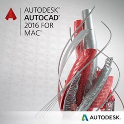Picture of Autodesk AutoCAD LT for Mac 2016 Commercial New SLM ELD 3-Year Desktop Subscription with Advanced Support PROMO