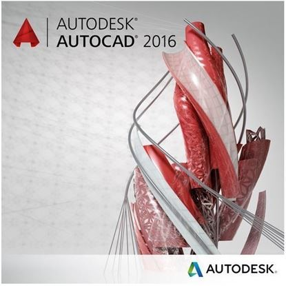 Picture of Autodesk AutoCAD 2016 Commercial New SLM ELD Annual Desktop Subscription with Basic Support PROMO