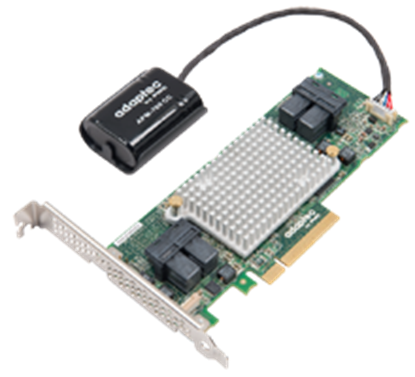 Hình ảnh Adaptec 81605ZQ 12 Gb/s with maxCache 3.0, 16 internal ports with embedded flash backup, and AFM-700 included
