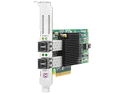 Picture of HP 82E 8Gb 2-port PCIe Fibre Channel Host Bus Adapter (AJ763B)