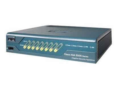 Picture of Cisco ASA 5505 ASA5505-BUN-K9 Appliance with SW, 10 Users, 8 ports, 3DES/AES