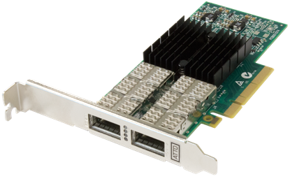 Picture of ATTO FastFrame™ NQ42 QSFP+ Optical Interface Dual Port 40GbE PCIe 3.0 Network Adapter ( includes QSFPs )