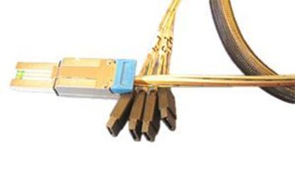 Picture of 4xSATA (device) to SFF-8088 (host) Fanout Cable 1M