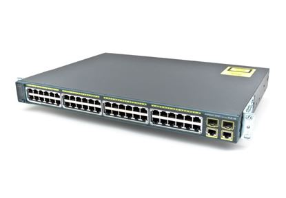 Picture of Catalyst 2960 Plus 48 10/100 PoE + 2 1000BT +2 SFP LAN Base (WS-C2960+48PST-L)
