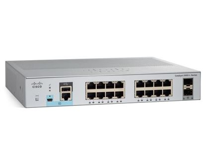 Picture of Catalyst 2960L 16 port GigE with PoE, 2 x 1G SFP, LAN Lite (WS-C2960L-16PS-LL)