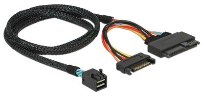 Picture of Cable HD Mini-SAS SFF-8643 to U.2 SFF-8639 NVMe with SATA power