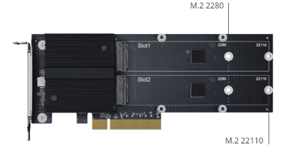 Hình ảnh Synology Dual-slot M.2 SSD adapter card for cache acceleration M2D20